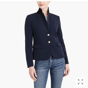 J Crew Schoolboy Navy blazer with tan lining